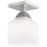 Livex 10280-05 Aragon 1 Light 5 inch Polished Chrome Flush Mount Ceiling Light