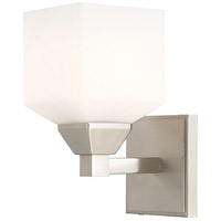 Livex 10281-91 Aragon 1 Light 5 inch Brushed Nickel Wall Sconce Wall Light