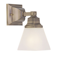 Livex Lighting Mission 1 Light Bath Light in Antique Brass 1031-01