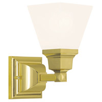 Livex Mission 1 Light Wall Sconce in Polished Brass 1031-02