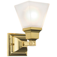 Mission 1 Light 5 inch Polished Brass Wall Sconce Wall Light