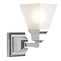 Livex Lighting Mission 1 Light Bath Light in Chrome 1031-05