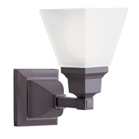 Livex 1031-07 Mission 1 Light 6 inch Bronze Bath Light Wall Light