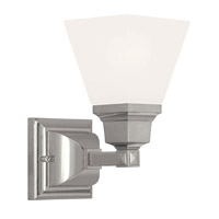 Mission 1 Light 9 inch Polished Nickel Wall Sconce Wall Light