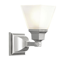 Livex 1031-91 Mission 1 Light 6 inch Brushed Nickel Bath Light Wall Light