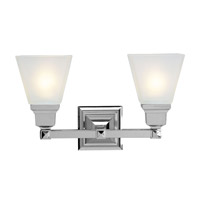 Livex Lighting Mission 2 Light Bath Light in Chrome 1032-05