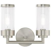 Livex 10362-91 Hillcrest 2 Light 13 inch Brushed Nickel Vanity Light Wall Light