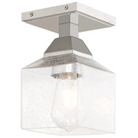 Livex 10380-05 Aragon 1 Light 5 inch Polished Chrome Flush Mount Ceiling Light