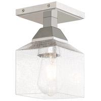 Livex 10380-05 Aragon 1 Light 5 inch Polished Chrome Flush Mount Ceiling Light