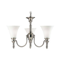 Livex Lighting New Haven 3 Light Chandelier in Brushed Nickel 1046-91