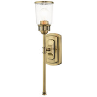 Livex 10511-01 Lawrenceville 1 Light 5 inch Antique Brass Single Sconce Wall Light