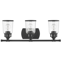 Livex Black Steel Bathroom Vanity Lights