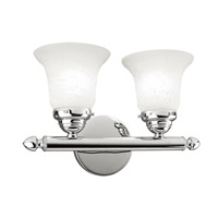 Home Basics 2 Light 13 inch Polished Chrome Bath Light Wall Light