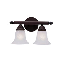 Home Basics 2 Light 13 inch Bronze Bath Light Wall Light