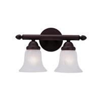 Livex Lighting Home Basics 2 Light Bath Light in Bronze 1062-07
