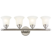 Home Basics 4 Light 24 inch Polished Chrome Bath Light Wall Light