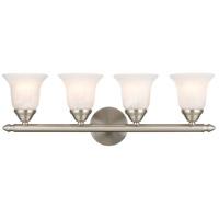 Livex 1064-91 Home Basics 4 Light 24 inch Brushed Nickel Bath Light Wall Light