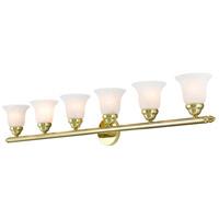Livex 1066-02 Neptune 6 Light 48 inch Polished Brass Bath Vanity Wall Light