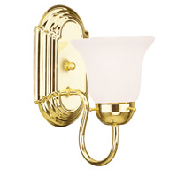Livex Lighting Home Basics 1 Light Bath Light in Polished Brass 1071-02