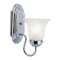 Livex Lighting Home Basics 1 Light Bath Light in Chrome 1071-05