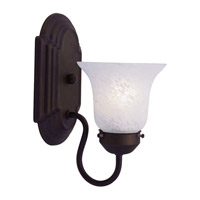 Livex Lighting Home Basics 1 Light Bath Light in Bronze 1071-07
