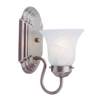 Livex Lighting Home Basics 1 Light Bath Light in Brushed Nickel 1071-91