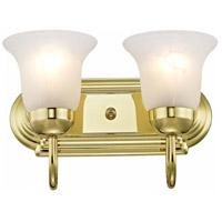 Livex 1072-02 Home Basics 2 Light 12 inch Polished Brass Bath Light Wall Light