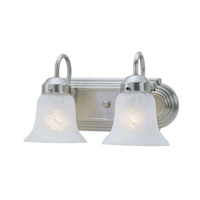 Livex Lighting Home Basics 2 Light Bath Light in Brushed Nickel 1072-91