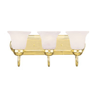 Livex Lighting Home Basics 3 Light Bath Light in Polished Brass 1073-02