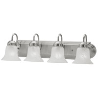 Livex 1074-91 Home Basics 4 Light 24 inch Brushed Nickel Bath Light Wall Light