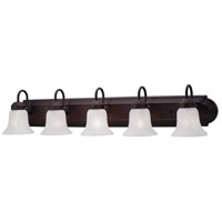 Livex Lighting Home Basics 5 Light Bath Light in Bronze 1075-07