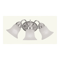 Livex Lighting Chelsea 3 Light Bath Light in Brushed Nickel 1123-91