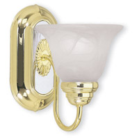 Signature 1 Light Polished Brass with Chrome Vanity Light Wall Light