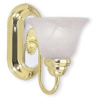 Livex 1151-25 Signature 1 Light Polished Brass with Chrome Vanity Light Wall Light