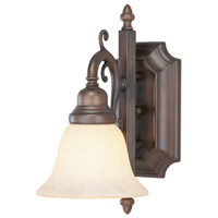 French Regency 1 Light 6 inch Imperial Bronze Bath Light Wall Light