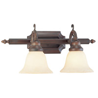 Livex 1192-58 French Regency 2 Light 19 inch Imperial Bronze Bath Light Wall Light photo thumbnail