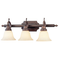 Livex 1193-58 French Regency 3 Light 25 inch Imperial Bronze Bath Light Wall Light