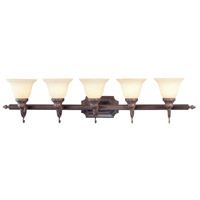 French Regency 5 Light 41 inch Imperial Bronze Bath Light Wall Light