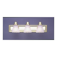 Livex Limited 3 Light Bath Light in Polished Brass 1203A-02