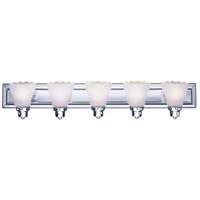 Livex 1205A-05 Limited 5 Light 36 inch Polished Chrome Bath Light Wall Light
