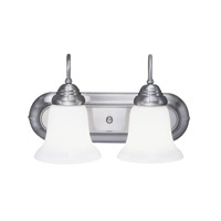 Livex Lighting Eloquence 2 Light Bath Light in Brushed Nickel 1252-91