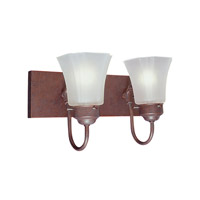 Limited 2 Light 14 inch Weathered Brick Bath Light Wall Light