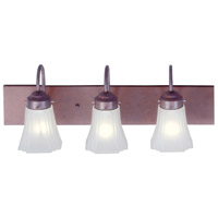 Limited 3 Light 24 inch Weathered Brick Bath Light Wall Light