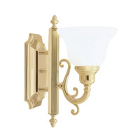 Livex 1281-02 French Regency 1 Light 6 inch Polished Brass Bath Light Wall Light