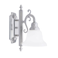 French Regency 1 Light 6 inch Polished Chrome Bath Light Wall Light