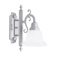 Livex 1281-05 French Regency 1 Light 6 inch Polished Chrome Bath Light Wall Light