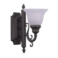 Livex 1281-07 French Regency 1 Light 6 inch Bronze Bath Light Wall Light