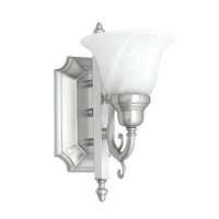 French Regency 1 Light 6 inch Brushed Nickel Bath Light Wall Light