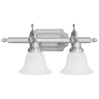 French Regency 2 Light 19 inch Brushed Nickel Bath Light Wall Light