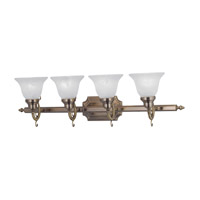 Livex Lighting French Regency 4 Light Bath Light in Antique Brass 1284-01